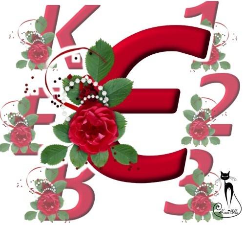 Український алфавіт з розами