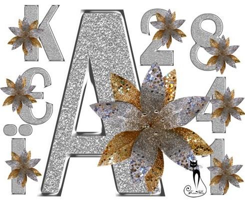 Срібні букви і цифри