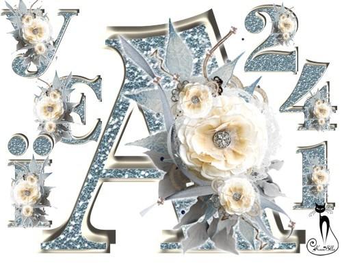 Український алфавіт зимовий з розами