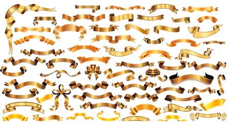 Золоті банери і стрічки