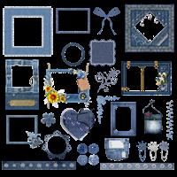 Рамочки і елементи з джинсу png