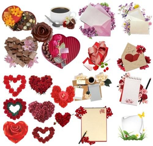 Квіти з аркушами і сердечками