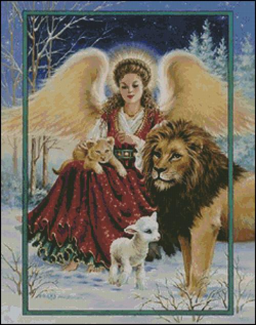 Схема для вишивання Ангел і звірі