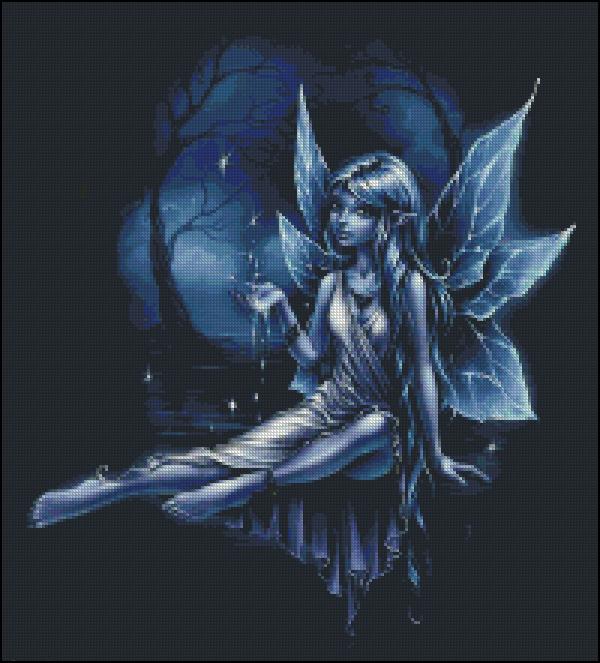 Схема для вишивання Місячна фея