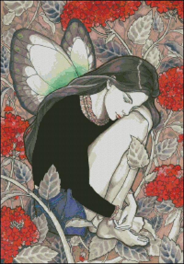 Схема для вишивання Сумна фея