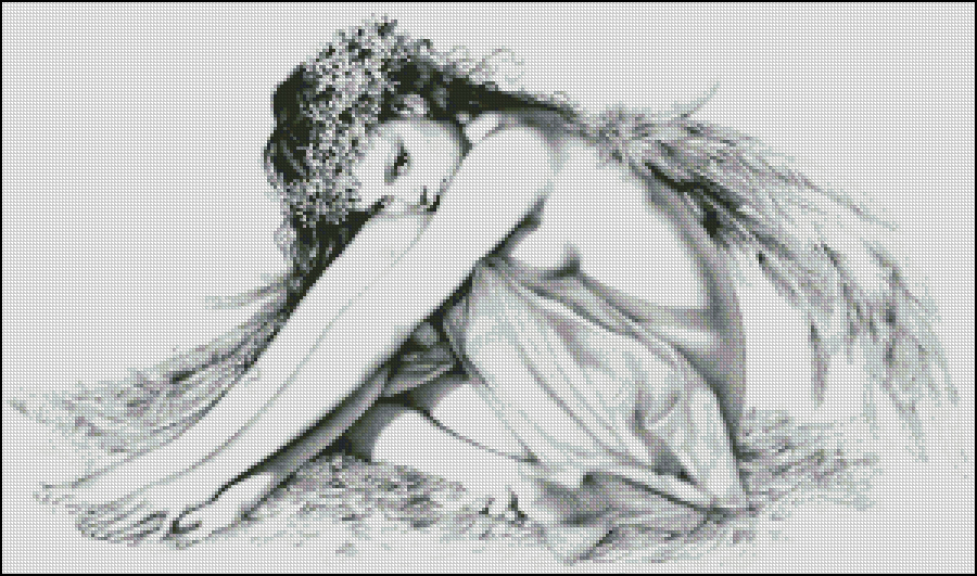 Схема для вишивання Ангелик