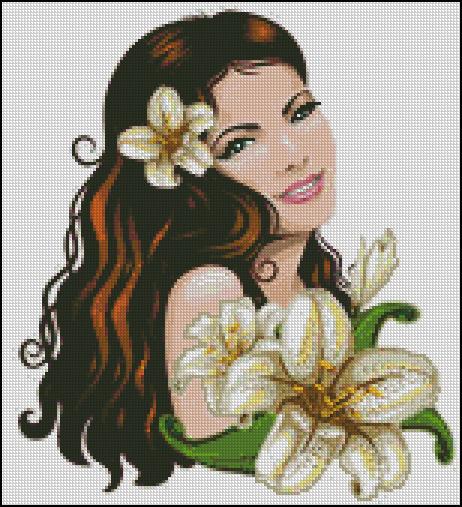 Схема - Портрет з ліліями