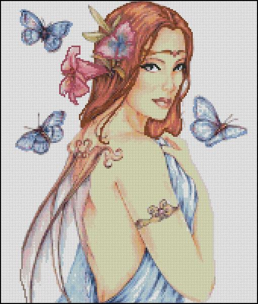 Схема - Фея з метеликами