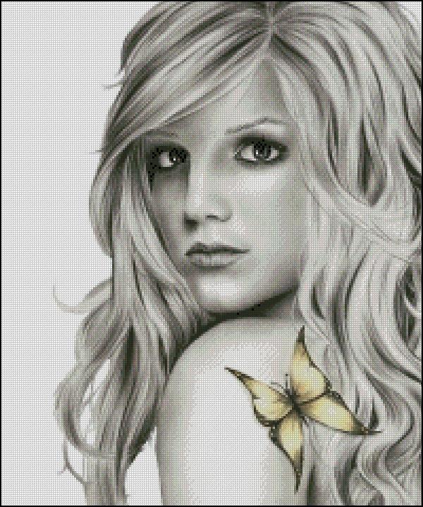 Схема - Портрет з метеликом