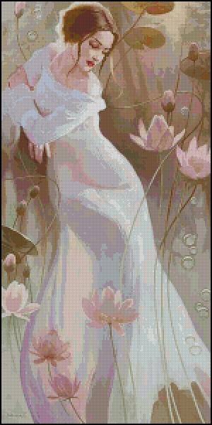 Схема для вишивання Квіти лотоса