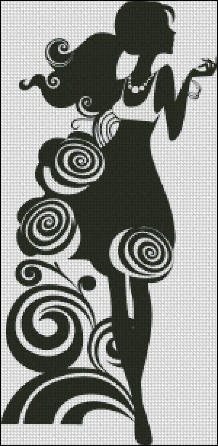 Схема для вишивання Силует