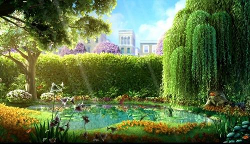 Анімаційна шпалера - Озерце в парку