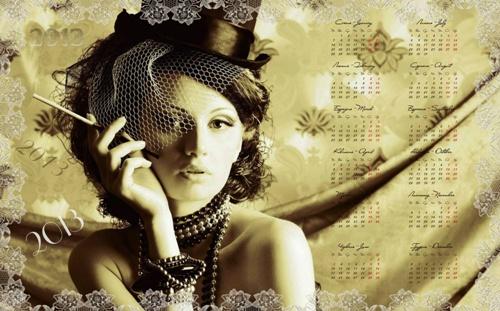 Українсько англійський календар 2013