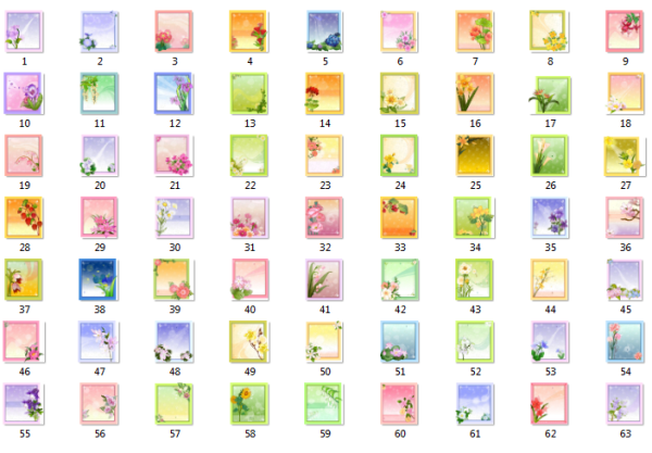 Карточки з квітами для тексту