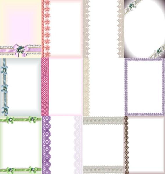 Аркуші-фони з мереживом