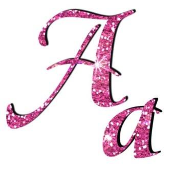 Розові блискучі букви