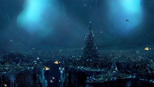 Анімаційна шпалера - Місто під водою