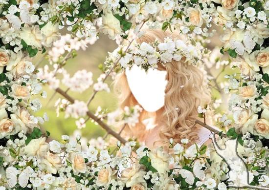 Шаблон і рамка для фото - Білий цвіт