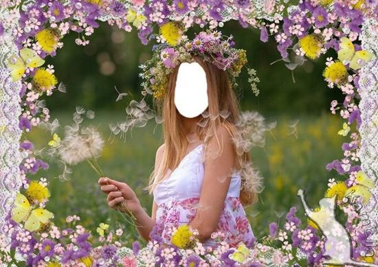 Шаблон і рамка для фото - Польові квіти